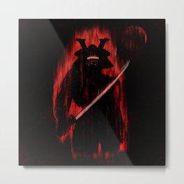 Fire Samurai Metal Print