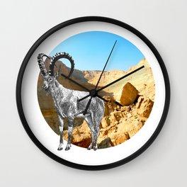 Nubian Ibex Wall Clock