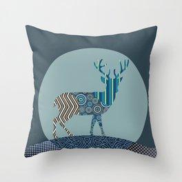 Deer Antler Throw Pillow
