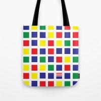 waldo Tote Bags featuring Square's Waldo by Jonah Makes Artstuff