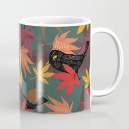 Autumn Blackbirds Coffee Mug