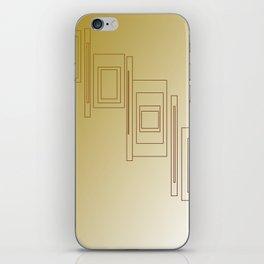 Design blocks, Gold elements iPhone Skin