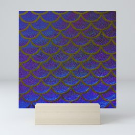 Dandelion Denim Scales Mini Art Print