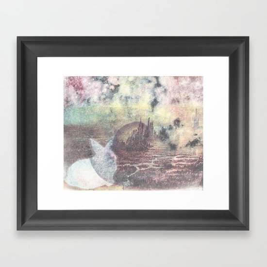 A Rabbit and a Dying City Framed Art Print