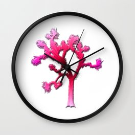 Joshua Tree Strawberry by CREYES Wall Clock