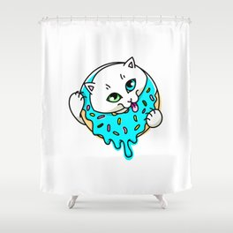 Donut Puss Shower Curtain