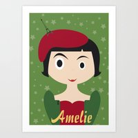 amelie Art Prints featuring Amelie by Creo tu mundo