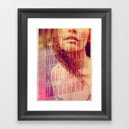 Hand in my Hand Framed Art Print