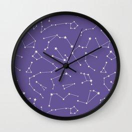 violet constellation Wall Clock