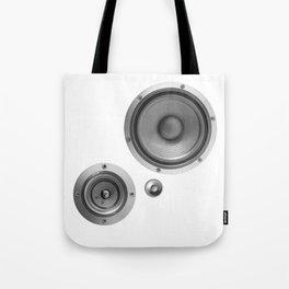 Subwoofer Speaker on white Tote Bag