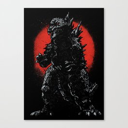 Hail Zilla Canvas Print