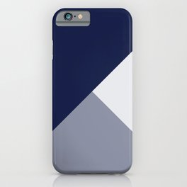 Trinity Color Block Navy Blue 121c44 iPhone Case