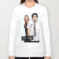 chuck Long Sleeve T-shirts featuring Chuck Chuck by SyafSyaf