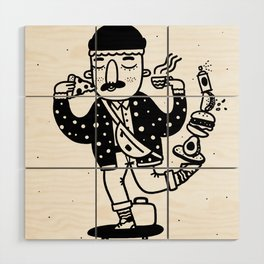 Skate Foodie Wood Wall Art