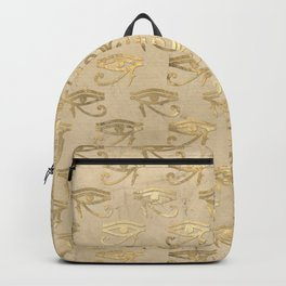 Gold Egypt Eye Of Horus Pattern Backpack