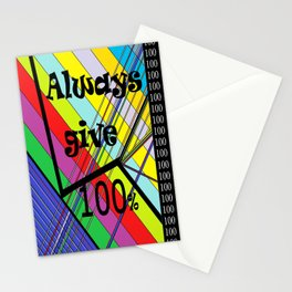 Always Give 100% Stationery Cards