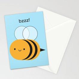 Kawaii Buzzy Bumble Bee Stationery Cards