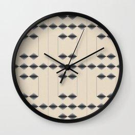 Diamond Stripes Wall Clock