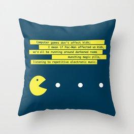 Computer Games Don't Affect Kids Throw Pillow