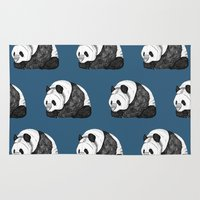 pandas Area & Throw Rugs featuring Pandas by Diana Hope
