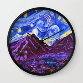 Maui Starry Night Wall Clock