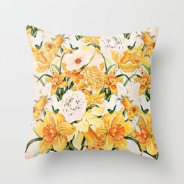 Wordsworth  and the daffodils. Throw Pillow