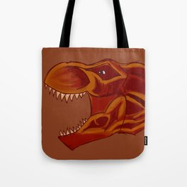 T-rex head, colored pencil Tote Bag