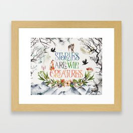 Stories Framed Art Print