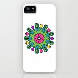 Tulip Delights Mandala iPhone Case