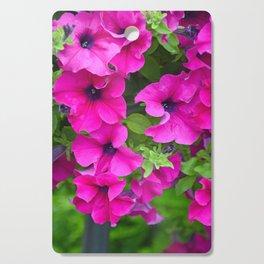Beautiful pink petunias Cutting Board