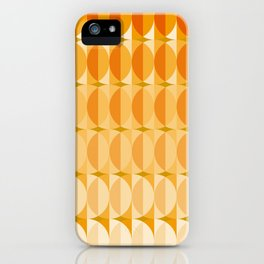 Leaves at autumn - a pattern in orange and brown iPhone Case