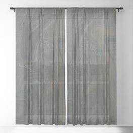 Winter Green Vortex Sheer Curtain