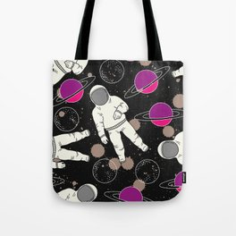 Cosmic Hipster Astronaut Tote Bag