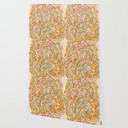 "Alphonse Mucha ""Convolvulus"" Wallpaper"