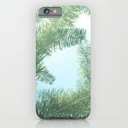 Nature photography tropical vibe vintage palm leaf II iPhone Case