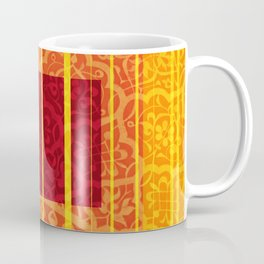 Rectangles and Stripes floral Mosaic Coffee Mug