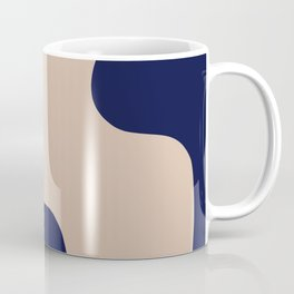 Blue Beige Gold Abstract Art Coffee Mug