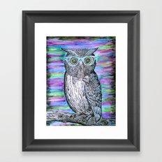 Owl Typography Framed Art Print