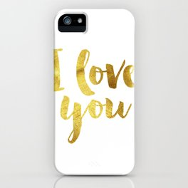 I love you iPhone Case