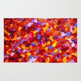 Abstract Red 002 Rug