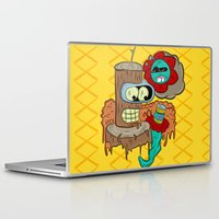 bender Laptop & iPad Skins featuring Wooden Bender by TheArtistKAFA