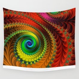 Fabulous Fractals - The Queen's Dress Wall Tapestry