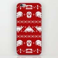 starlord iPhone & iPod Skins featuring Merry Christmas A-Holes by Perdita