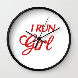 Cute I Run Like a Girl, Try To Keep Up Running Wall Clock