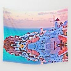 Santorini Wall Tapestry
