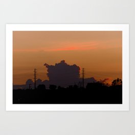Fire sunset Art Print