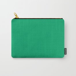 Jade Green Solid Color Carry-All Pouch