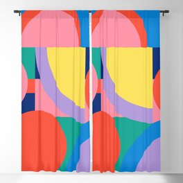Bright Shapes and Colors 56 Blackout Curtain