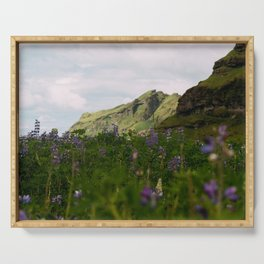 Lupine Fields in Iceland Serving Tray