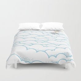 Peak above the clouds Duvet Cover